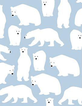 Polar Bears Wrapping Paper @Hannah Mestel Mestel Mestel Mestel Stovall