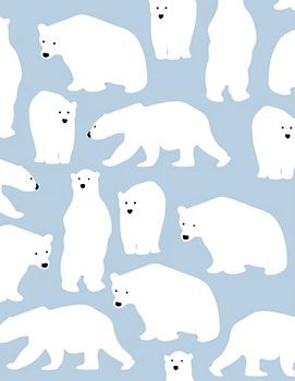 Polar Bears Wrapping Paper @Hannah Stovall