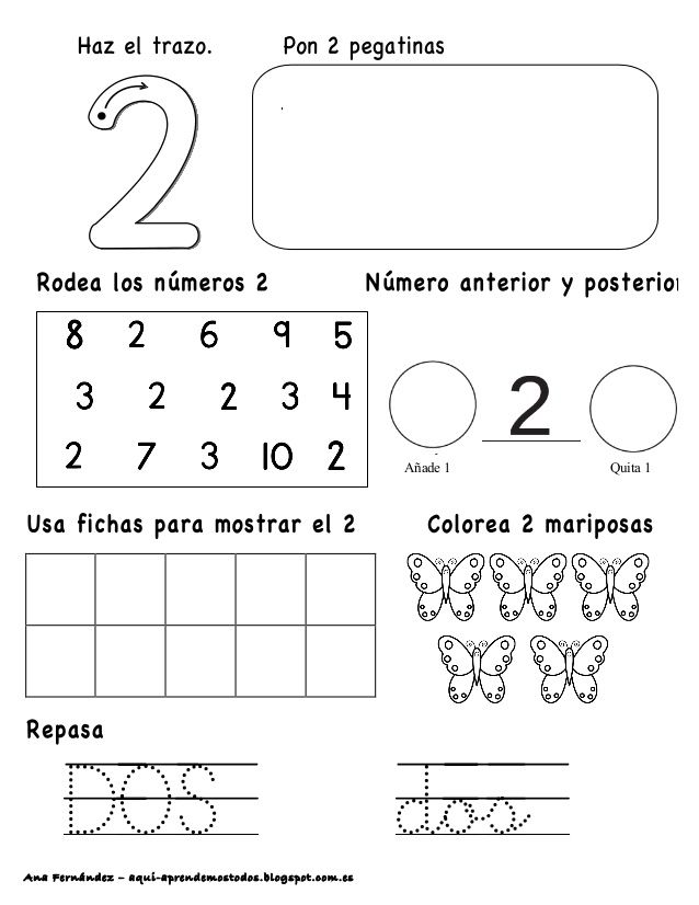 Números hasta el 10 - modificado