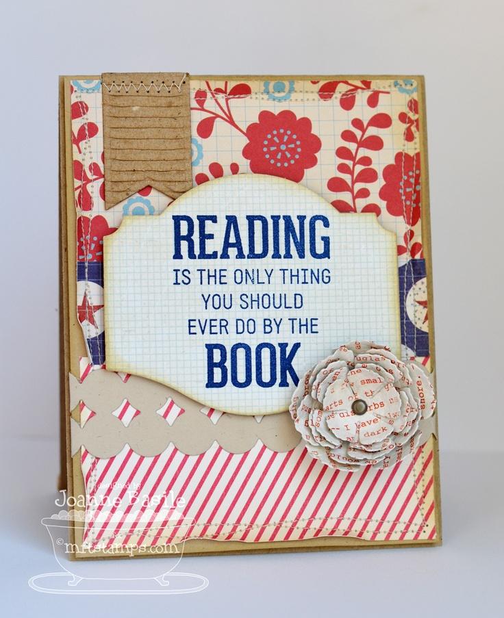 Bookmark Duo Die-namics and Stamp Set, Layered Rose Die-namics - Joanne Basile