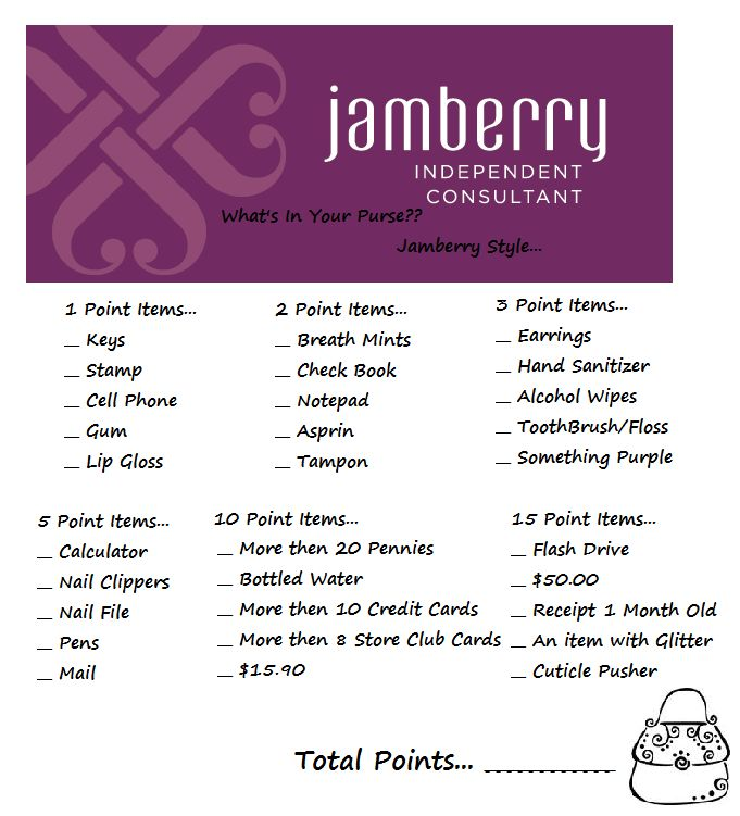 """Jamberry style """"What's In Your Purse??"""""""