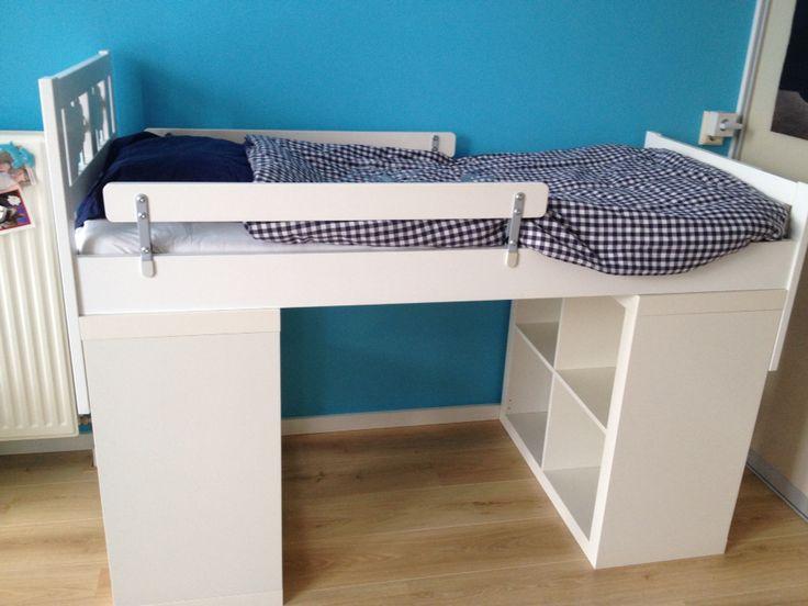 #Ikea. Peuterbed met opbergkasten