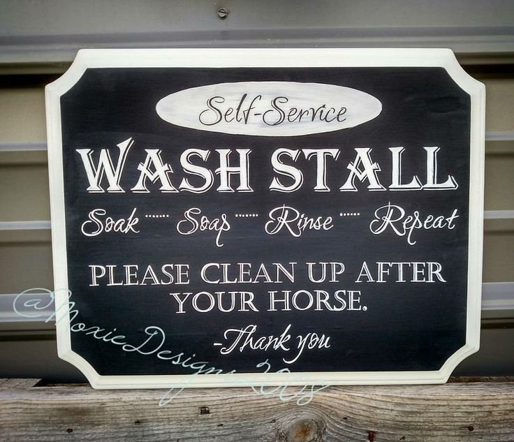 Moxie Design's wash stall sign