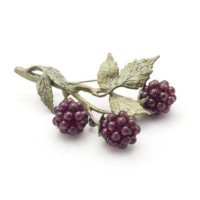 Raspberries Brooch by Michael Michaud
