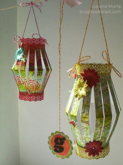 Decoração de festas: Lanternas de papel   Luciana Murta