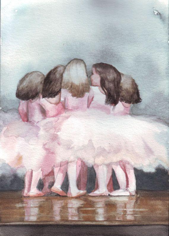 Маленькая балерина картинка акварель всегда занимает