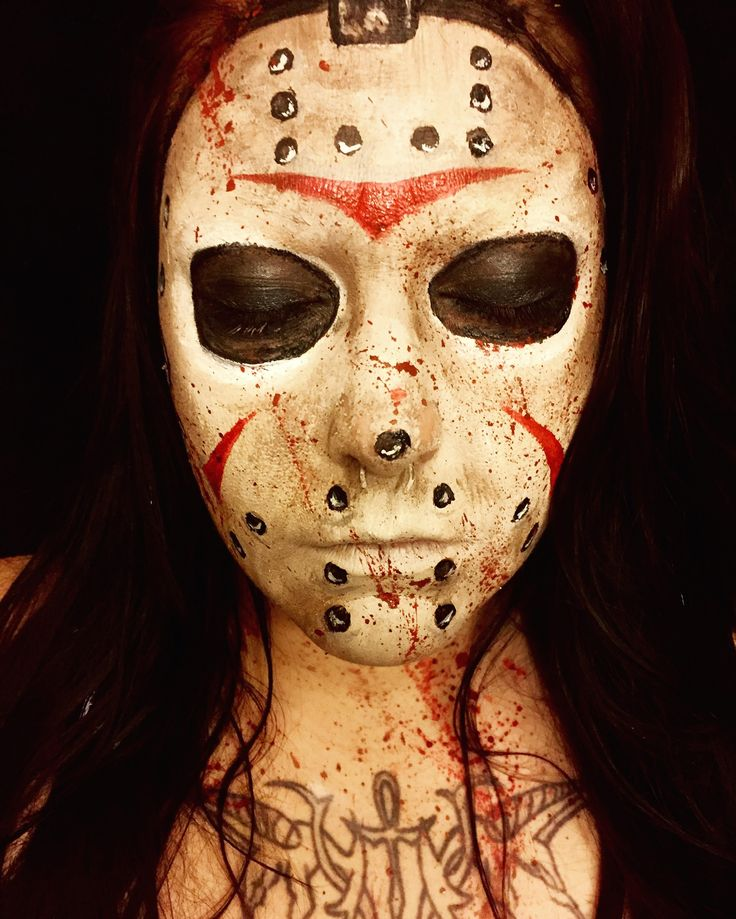 Friday the 13th Halloween makeup Jason Voorhees mask facepaint.. FOLLOW ME ON INSTAGRAM @ ghoulish_fx