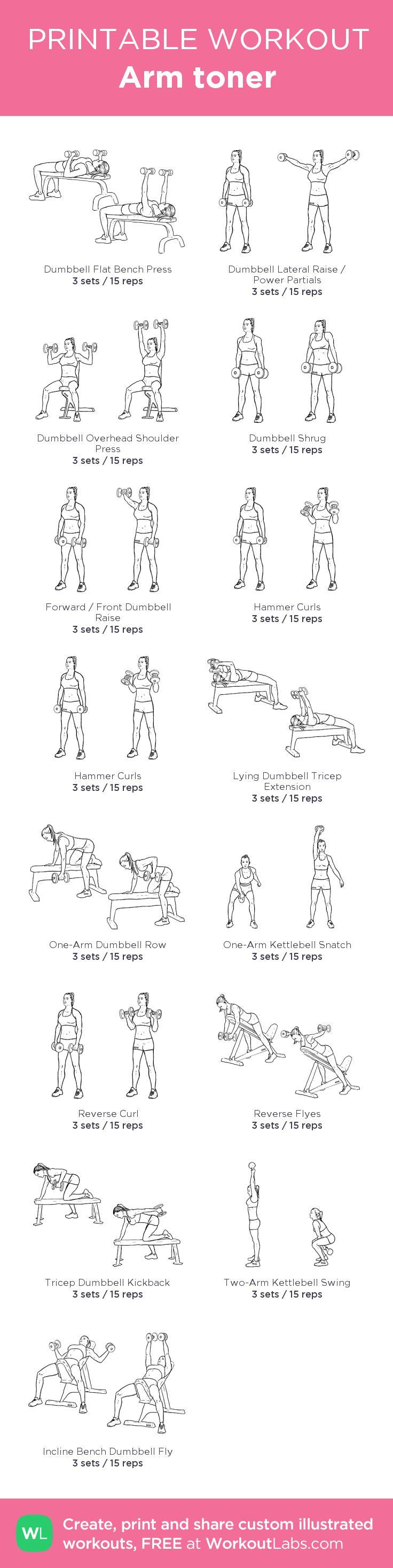Arm toner –my custom workout created at WorkoutLabs.com