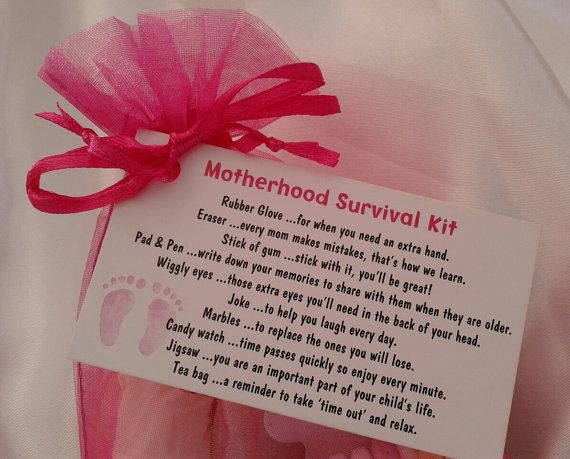 Little BAG of BITS: Motherhood Survival Kit - new baby gift, treasure basket, mum to be present, baby shower, novelty birthday gift