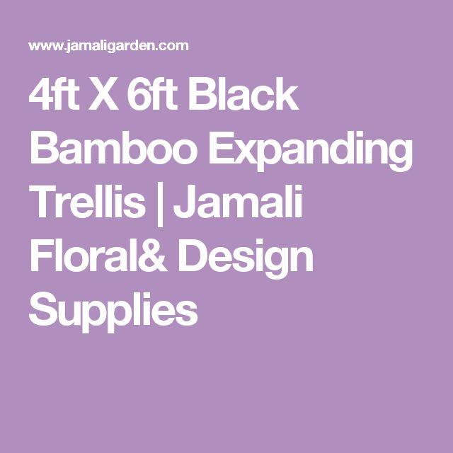 4ft X 6ft Black Bamboo Expanding Trellis | Jamali Floral& Design Supplies