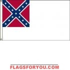 High Wind, US Made Second Confederate Flag 2x3