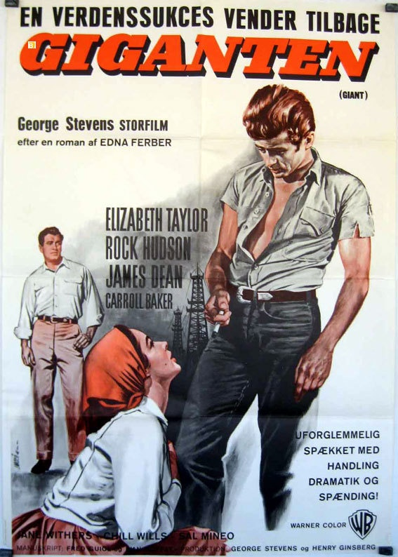Giant James Dean George Stevens 1956 Movie Poster | Movies ...