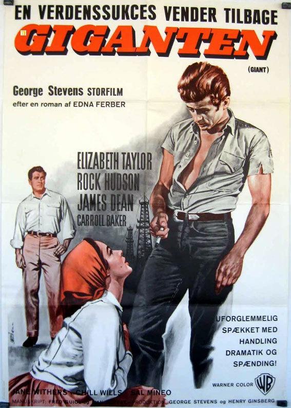 Giant James Dean George Stevens 1956 Movie Poster | Movies ...