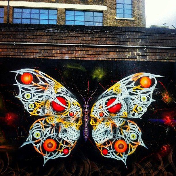 Graffiti Street Art Butterfly...!