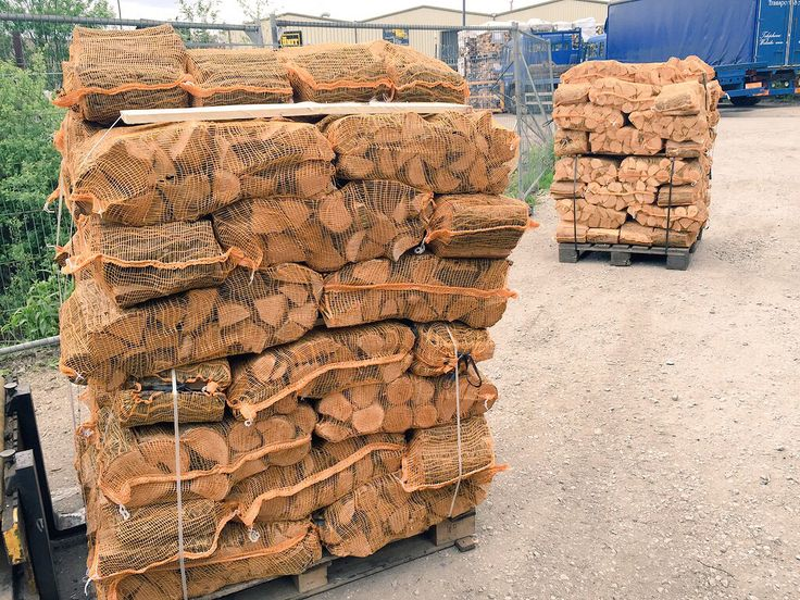 60 net pallets of kiln dried logs ready for delivery