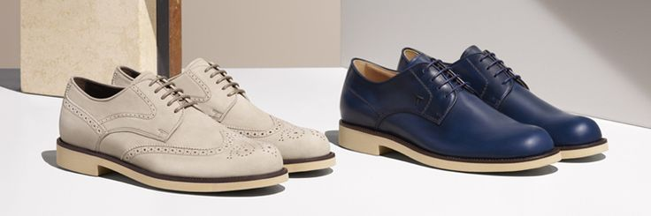 Tod's men shoes summer 2016 - Blue and white leather