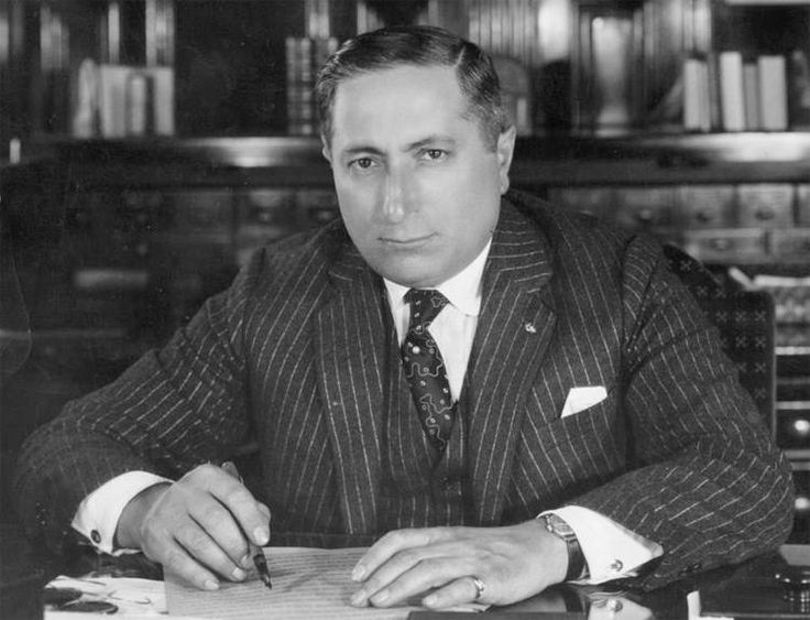 Louis B. Mayer 3.July 12, 1885 - October 29, 1957 Mayer was the co-founder of Metro-Goldwyn-Mayer Studios (MGM) in 1924 and three years after the merger, MGM became the most successful studio in Hollywood. Mayer was also one of the 36 founders of the Academy of Motion Picture Arts and Sciences (AMPAS). Louis B. Mayer died at the age of 72 of leukemia in Los Angeles and was interred at the Home of Peace Cemetery in East Los Angeles, California. Photo credit/ Marvin Paige Motion Picture and…