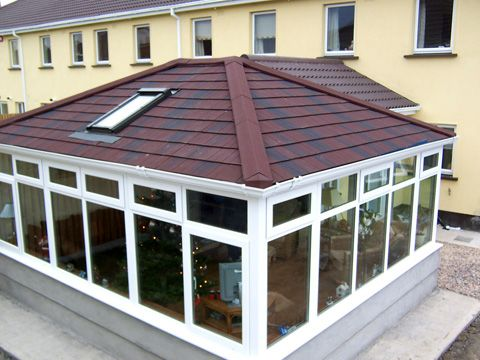Guardian Warm Roof, solid tiled conservatory roof at Christmas time