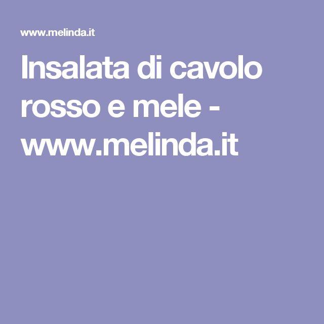 Insalata di cavolo rosso e mele - www.melinda.it