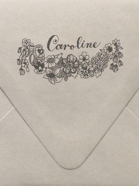 Flora Monogram Custom Stamp