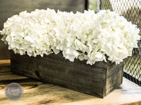 Vintage wood centerpiece flower box by eventsbyicandy on