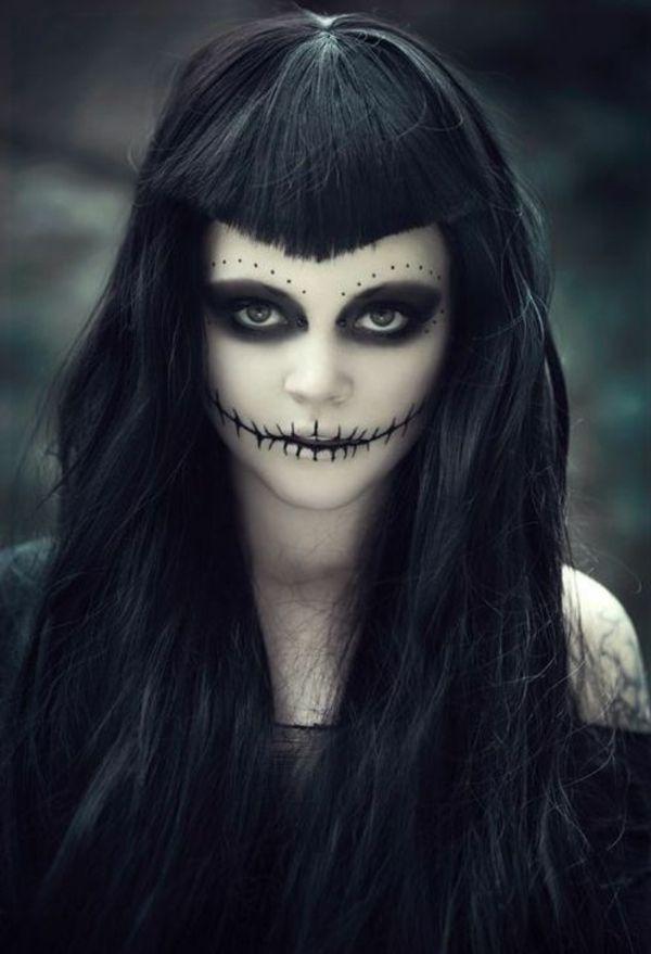halloween zombie schminktips und haarstyle ideen