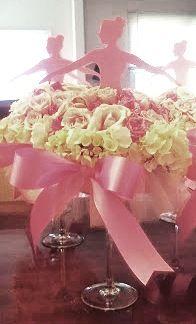 Ballerina floral centerpieces