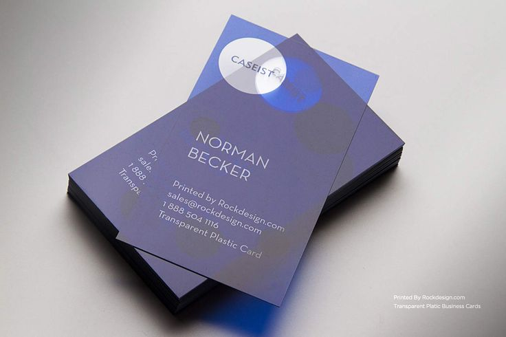 UV printing on our Clear plastic cardstock is a beautiful and simple way to rebrand your company! Designed and printed by RockDesign.