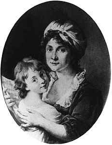 MARCELLO BACCIARELLI (1731-1818) Portrait of Ewa née Chreptowicz Brzostowska with her Daughter Izabella, [c. 1805] Oil on canvas, 71 x 56 (oval) Owned by Rajnold Przezdziecki in Warsaw. Lost in 1944. Negative MNW no. 63228; photo before 1939. WAR004300