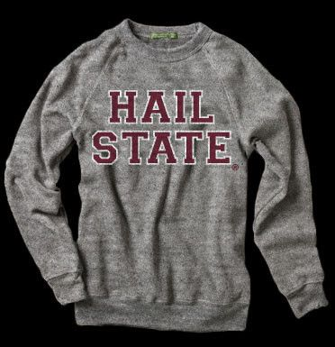 HAIL STATE GRAY BUY STATE VINTAGE APPAREL MISSISSIPPI STATE BULLDOGS | State Vintage