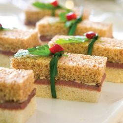 Roast Beef Finger Sandwiches with Kalamata Mustard Butter - GREAT Party food !