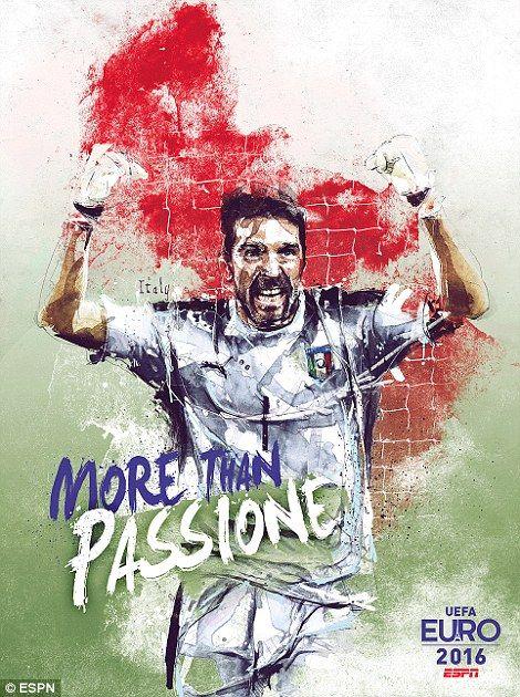 Juventus star Gianluigi Buffon keeps goal for Italy once again...