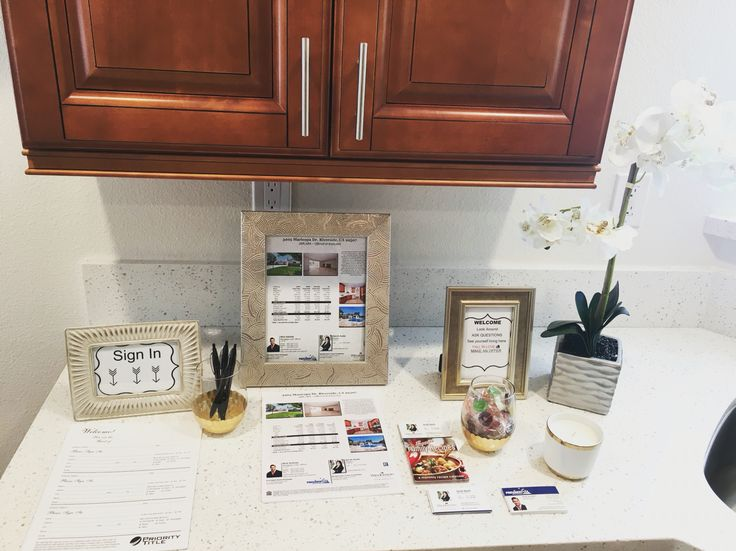 Real Estate Open House Set Up! Soooo adorable