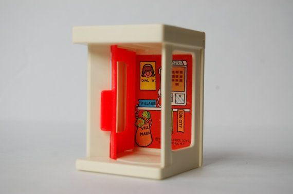hahahaha! What's a phone booth????? Fisher Price Little People