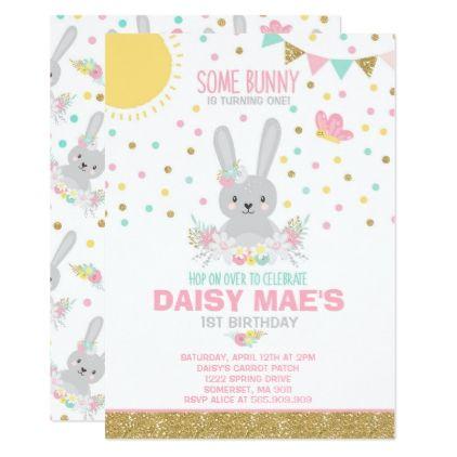 bunny birthday invitation some bunny birthday in 2018 various
