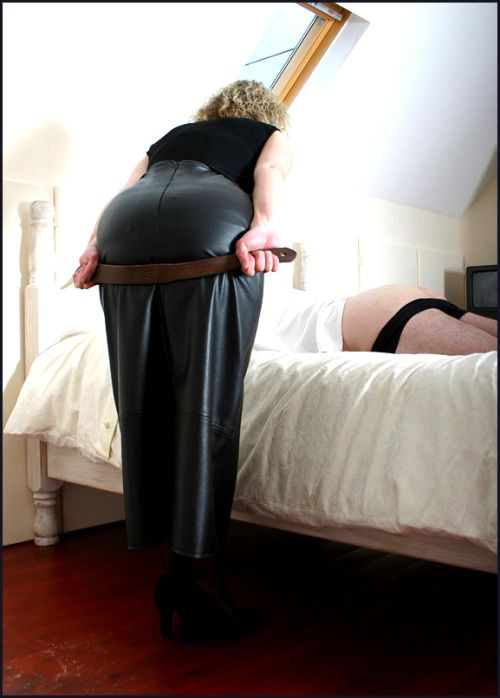 I told you that this would always happen to you if you didn't obey me. So just be quiet and take your spanking like a man because this will really hurt.