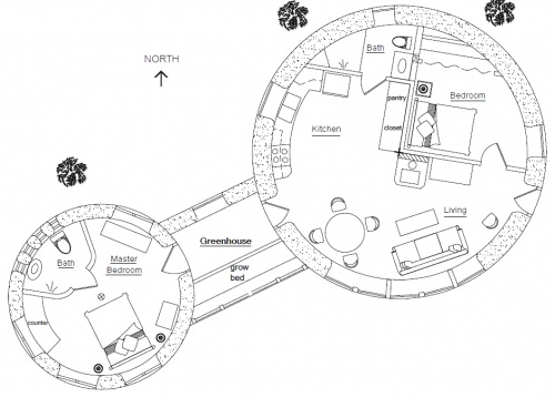 Best 25 round house plans ideas on pinterest round for Octagonal greenhouse plans