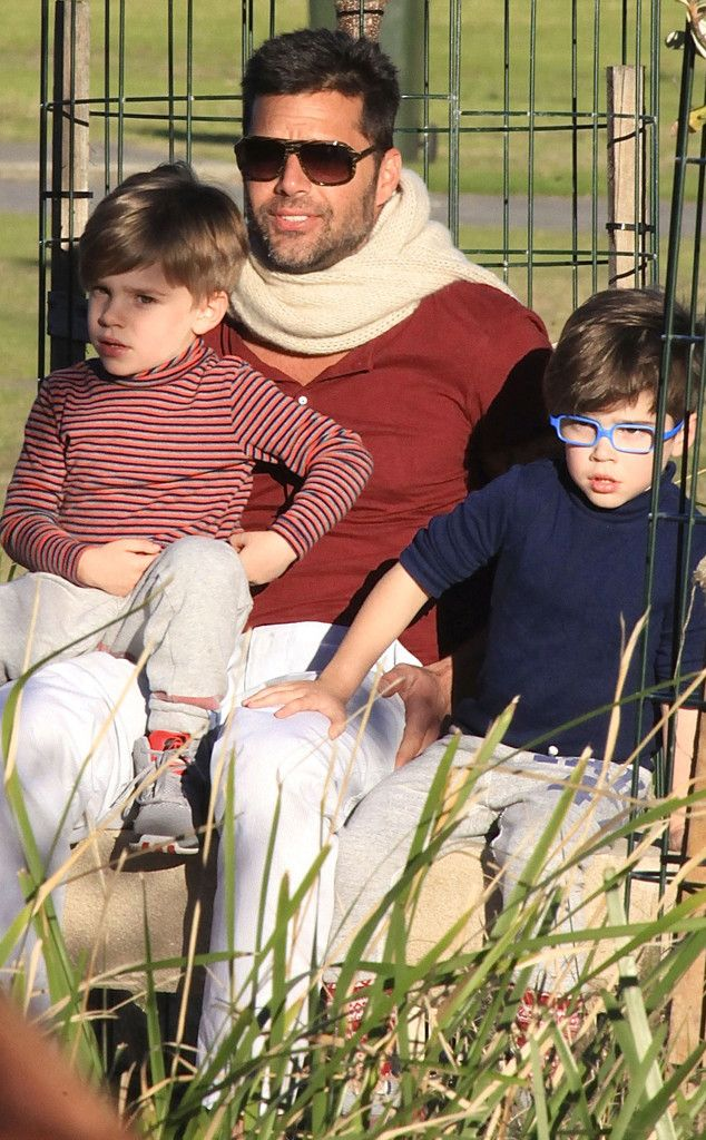 Ricky Martin from Hollywood's Hottest Dads and his sweet sons