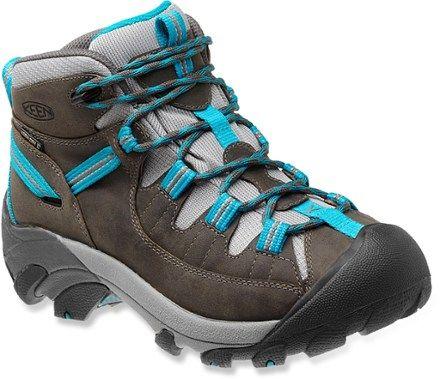 KEEN Women's Targhee II Mid Hiking Boots Gargoyle/Caribbean Sea 6.5