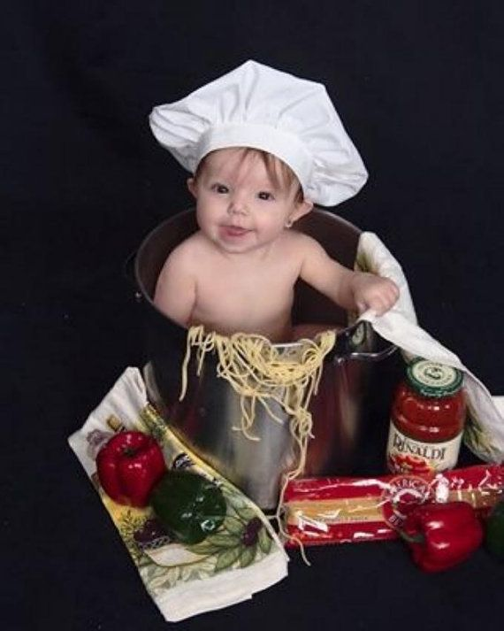 BABY CHEF HAT in 4 sizes Newborn Infant by SofiesSewingRoom