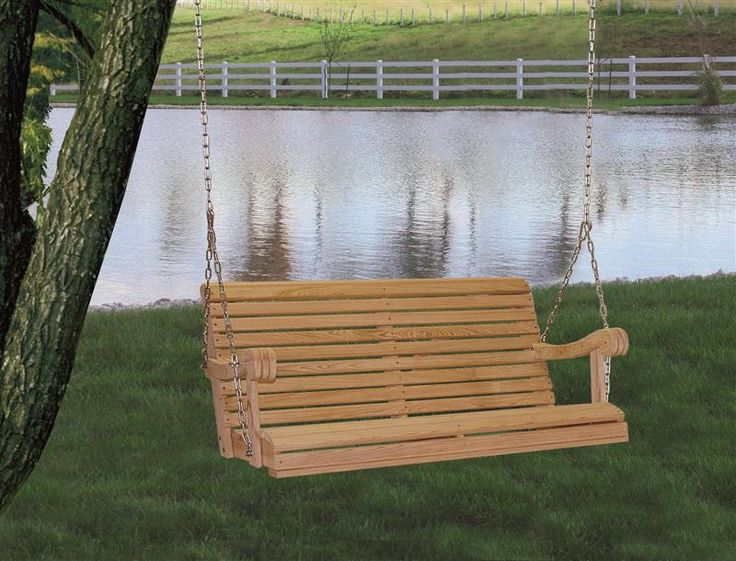 Traditional porch swing; includes chain & hardware.
