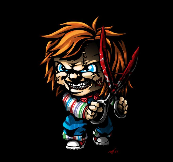 Funny parody of Chucky from the CHILD'S PLAY series of films.