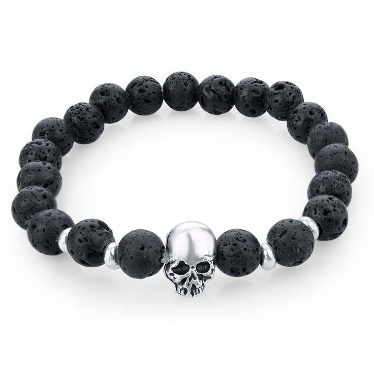 Купить товарЕстественная камни череп браслет для женщины лава камень бусины и тигр глаз камень бусины мужчины браслет в категории Плетёные браслетына AliExpress.                                            100% новый                                                Стиль: мода ювелирн