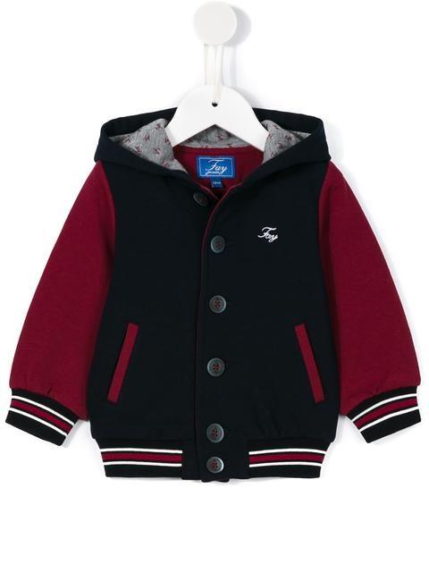 Fay Kids hooded bomber jacket