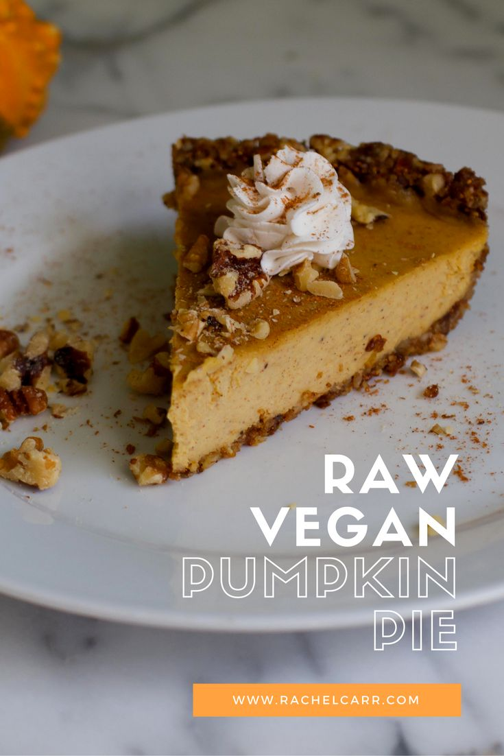 Raw vegan pumpkin pie is so much like traditional pie-but without the guilt!