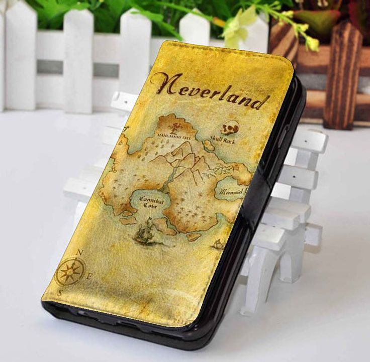 Peter Pan Neverland | Disney | Custom wallet case for iphone 4,4s,5,5s,5c,6 and samsung galaxy s3,s4,s5 - LSNCONECALL.COM