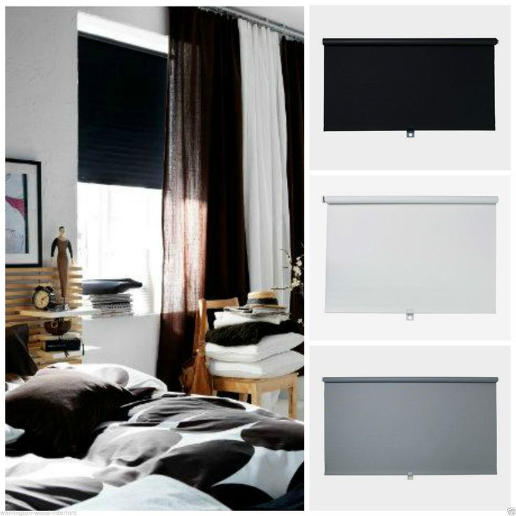 ikea tupplur blackout blind black white or grey new child safety design blackout. Black Bedroom Furniture Sets. Home Design Ideas