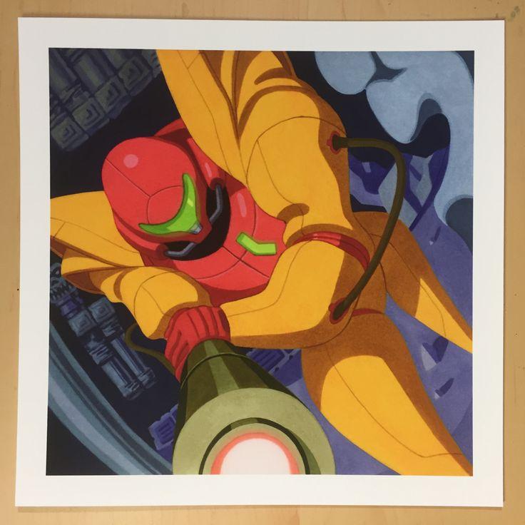 Artwork of Nuri Durr — Samus (Power Suit)