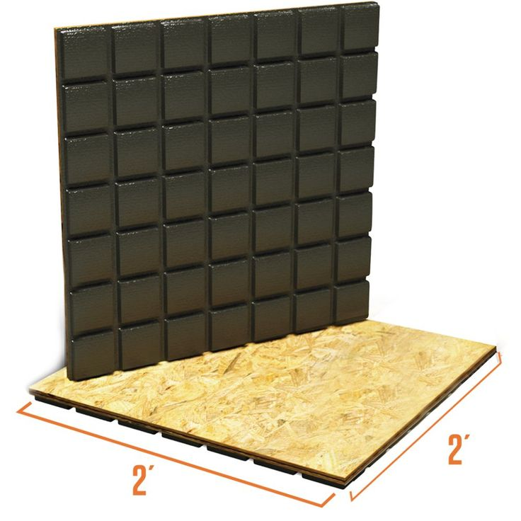 Amdry 3 4 Inch X 24 Inch X 24 Inch Heavy Duty Low Profile Subfloor Panel Non Insulated Wall Treatments Engineered Wood Floors Tile Manufacturers