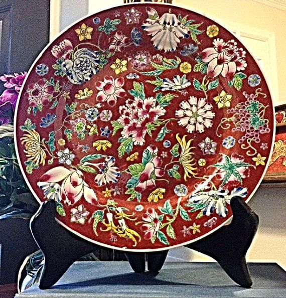Vingate Ornate Asian Decorative Plate - 10 in. | Asian Patterns | Pinterest | Asian decorative plates Plate chargers and Interior inspiration & Vingate Ornate Asian Decorative Plate - 10 in. | Asian Patterns ...